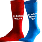 Blauwe Sokken Laten Bedrukken