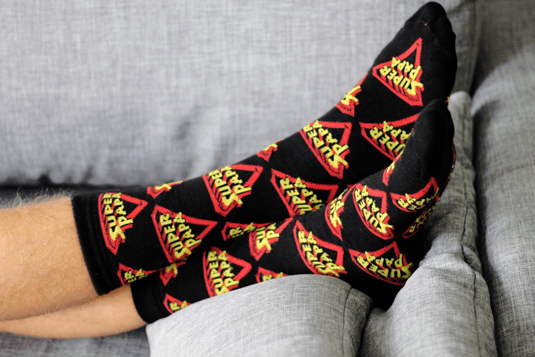 d7630af075b Zwarte Super Papa sokken