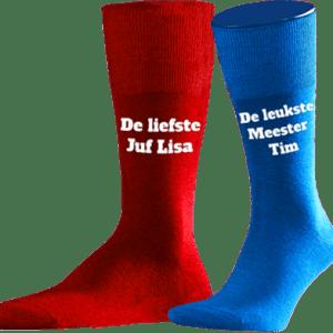 Bedrukken Rode Sokken