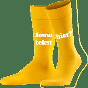 Bedrukken Van Gele Sokken