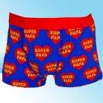 Blauwe Super Papa Boxershort