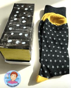 Voorbeeld moederdag sokken met verpakking