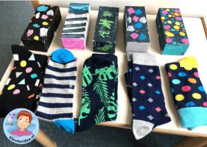 Verpakkingen van moederdag sokken