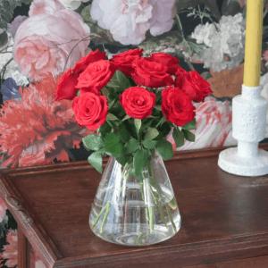 Rode Rozen Door De Brievenbus