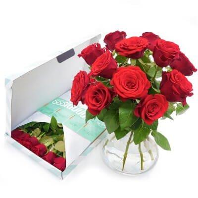 Rode rozen (12 stuks)