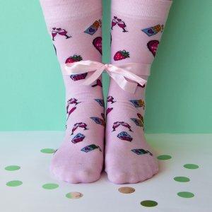 Roze Moederdag sokken voorkan