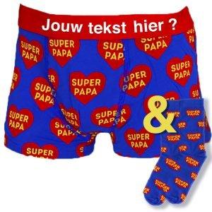 Super Papa Sokken En Onderbroek Set Bedrukken