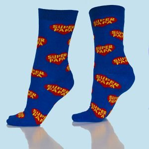 Blauwe Super Papa Sokken
