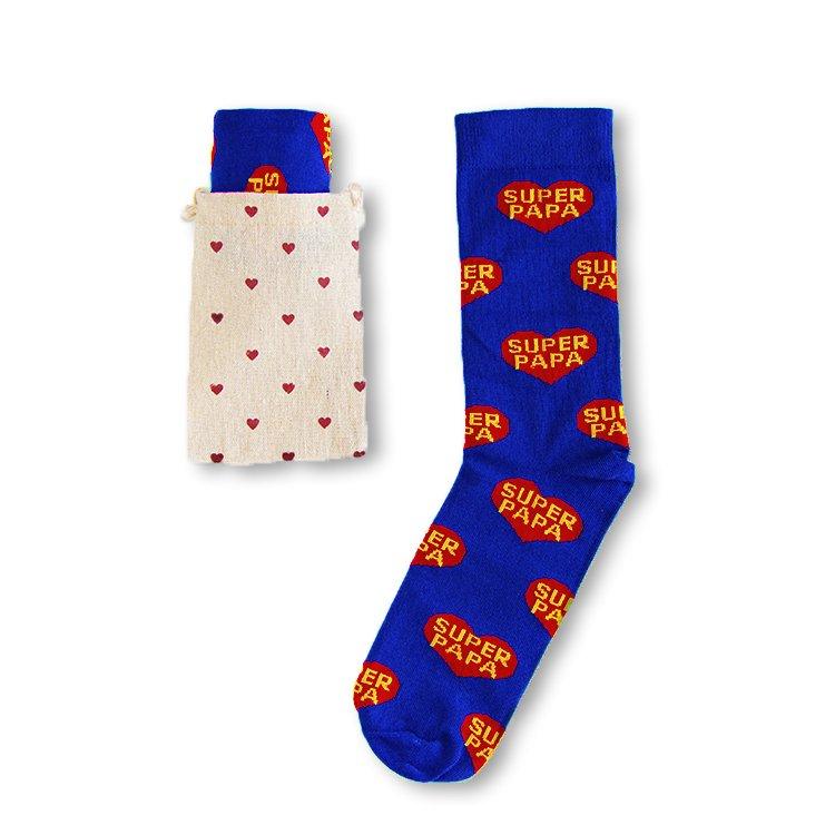 9391077afd4 Blauwe Super Papa sokken