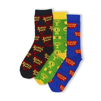 3 paar Vader sokken