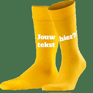 Gele Sokken Laten Bedrukken