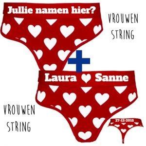 2-x-dames-liefdes-string-bedrukken