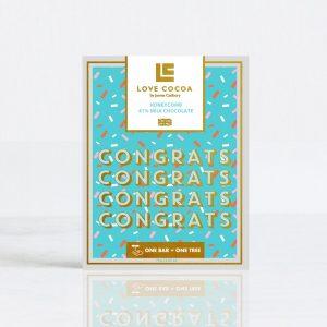 Voorkant Gefeliciteerd Chocolade