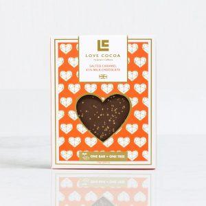 Liefdes chocolade voorkant