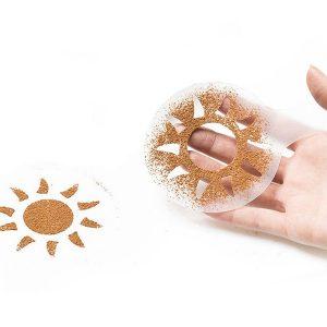 Sjabloon zonnetje koffie